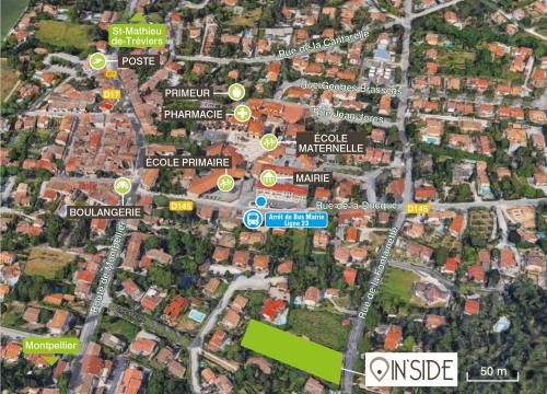Lançamento - Programme - Prades le Lez - IN'SIDE Plan de localisation - Photo