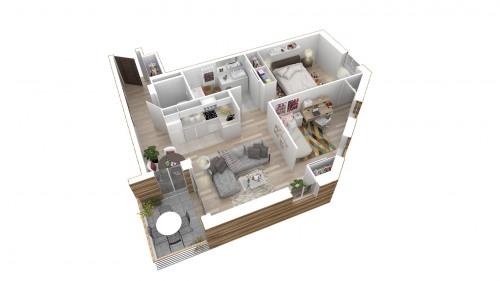 Produit d'investissement - Appartement 5 pièces - 94,31 m2 - Bondy - Appartement T2 avec Balcon L599-202 et L599-102 - Photo