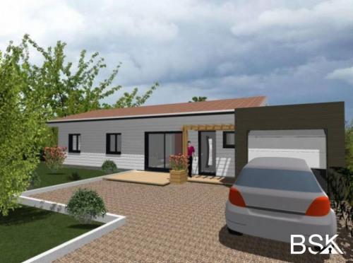 Vente - Maison d'architecte 4 pièces - 86 m2 - Saint Aunix Lengros - Photo