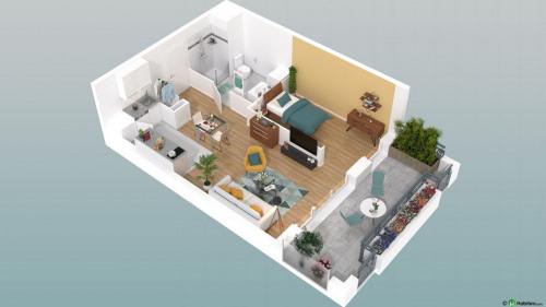New home sale - Programme - Beauvais - Le Franc Marché appartements neufs Beauvais centre-ville hyper centre BBC RT2012 programme PINEL LK PROMOTION Louis Kotarski Oise E106 - Photo