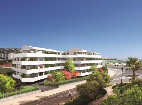 Produit d'investissement - Appartement 3 pièces - 62,65 m2 - Sète - Perspective de la résidence - Photo
