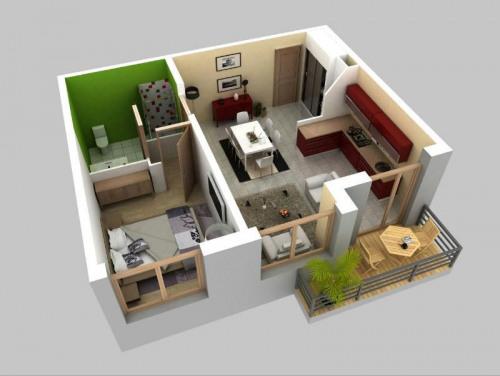 New home sale - Programme - Sarcelles - Plan logement 2 Pièces - Photo