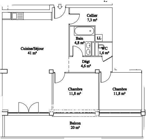 Sale apartment La roche-sur-foron 165800€ - Picture 2