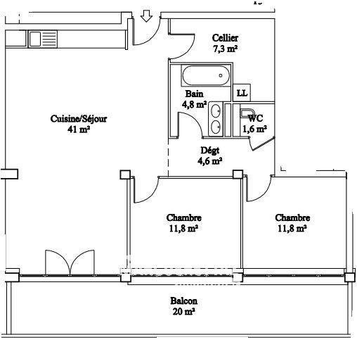 Vente appartement La roche-sur-foron 215540€ - Photo 2