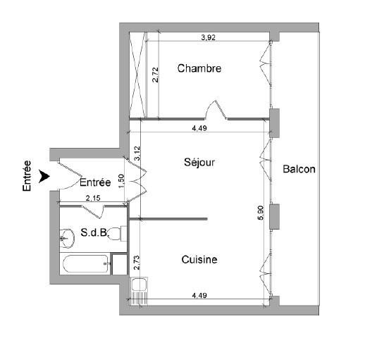 Location appartement Neuville sur saone 577€ CC - Photo 6