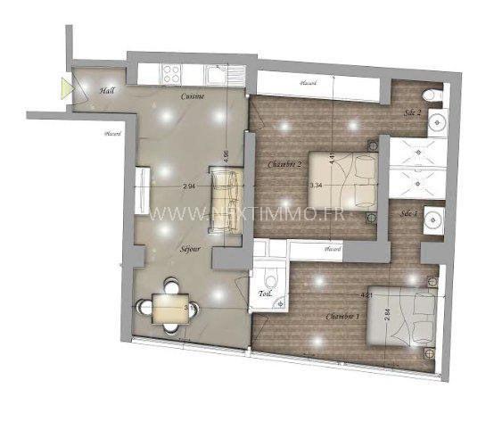 Vente appartement Beausoleil 374000€ - Photo 2