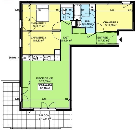 Vente appartement Saint-pierre-en-faucigny 311414€ - Photo 3