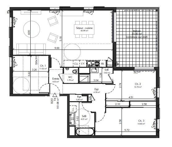 Sale apartment Genas 420913€ - Picture 4