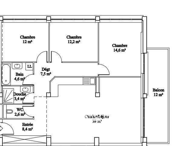 Sale apartment La roche-sur-foron 268580€ - Picture 2