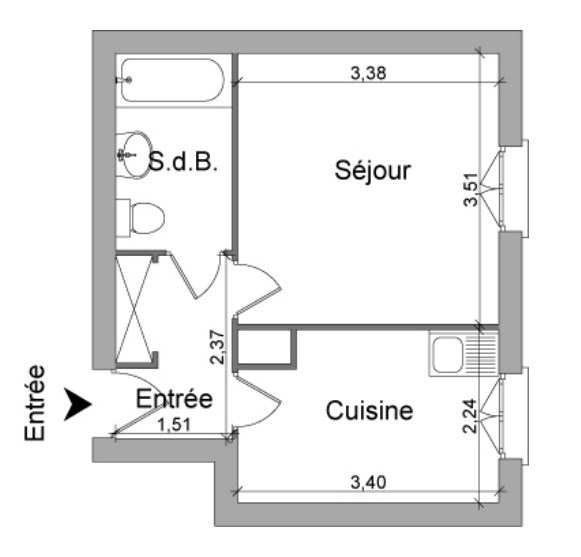 Location appartement Trevoux 361€ CC - Photo 4