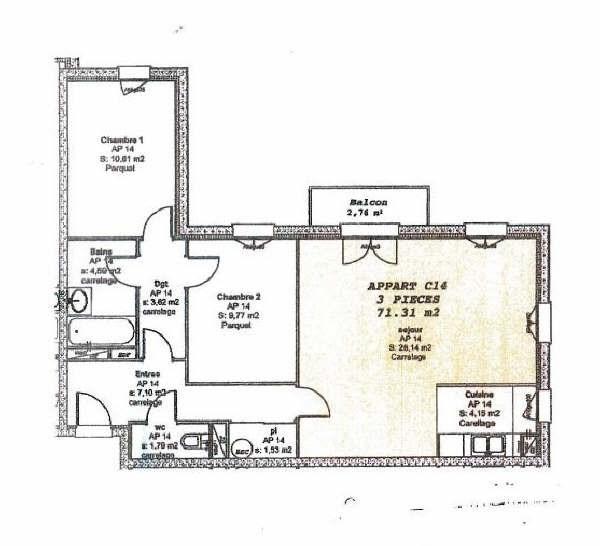 Sale apartment Orry la ville 249000€ - Picture 1