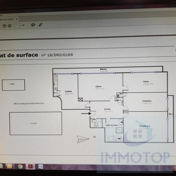 Vente appartement Menton 345000€ - Photo 11