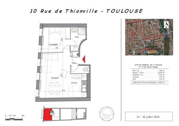 Location appartement Toulouse 568€ CC - Photo 1