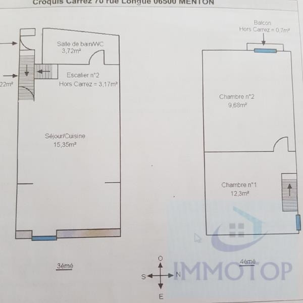 Investment property apartment Menton 160000€ - Picture 9