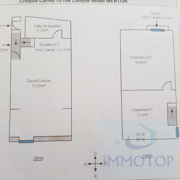Prodotto dell' investimento appartamento Menton 160000€ - Fotografia 9