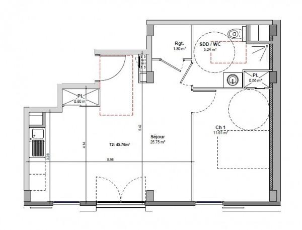 Appartement neuf T2 villeurbanne investissement locatif