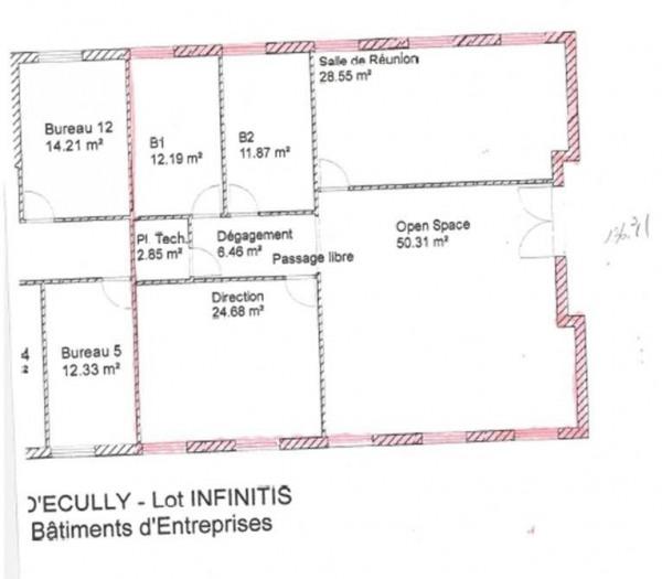 Location Bureau Écully 0