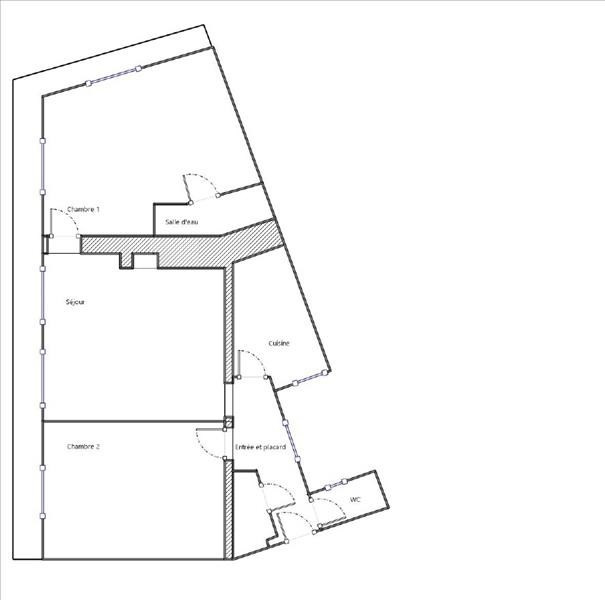 Venta  apartamento Paris 18ème 504000€ - Fotografía 3