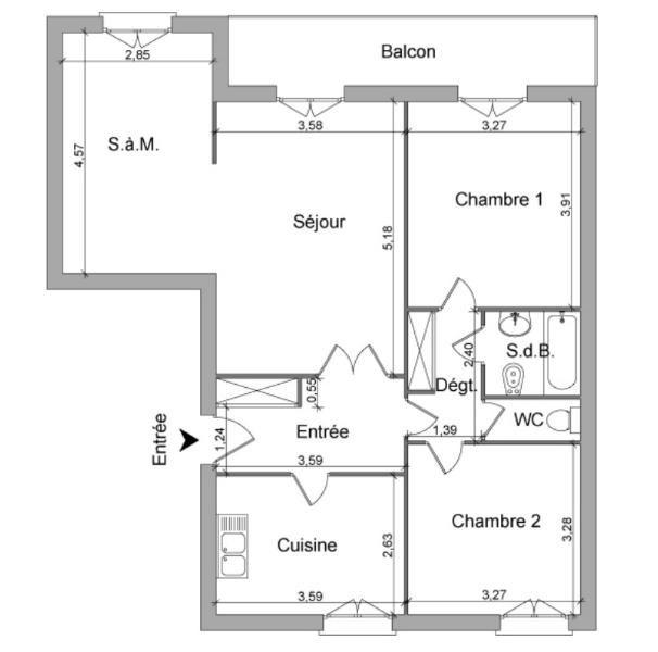 Location appartement Villefranche sur saone 819€ CC - Photo 1