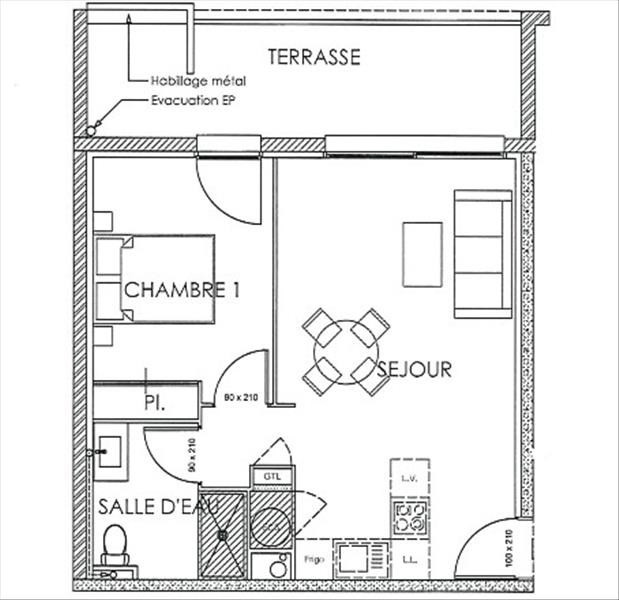 Vente appartement Perpignan 134000€ - Photo 3