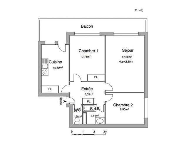Affitto appartamento Chambéry 694€ CC - Fotografia 4