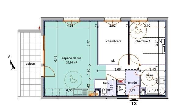 Sale apartment Annemasse 253400€ - Picture 4