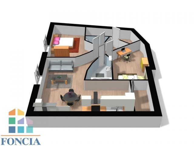 Vente appartement Chalamont 96000€ - Photo 4