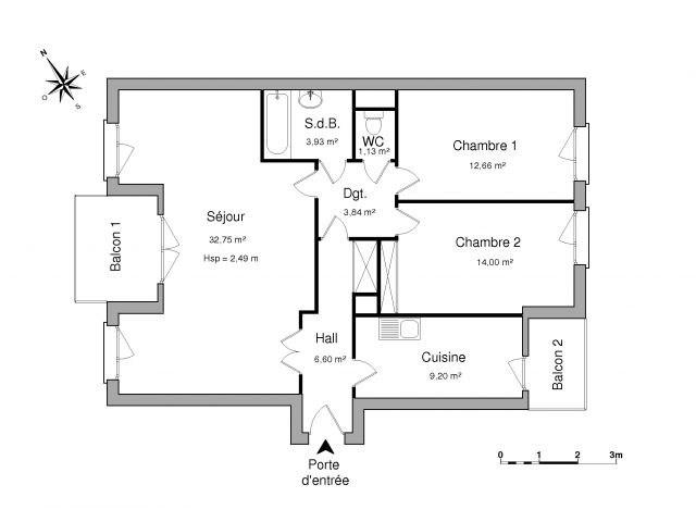 Location appartement Villeurbanne 899€ CC - Photo 2