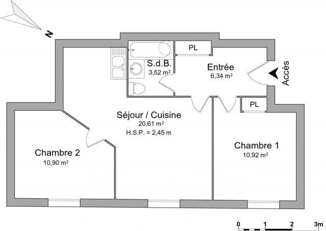 Verhuren  appartement Chambéry 600€ CC - Foto 2