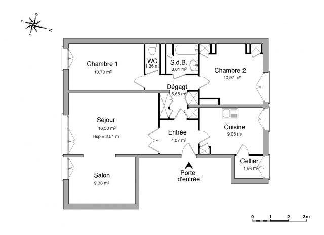 Location appartement Saint-étienne 448€ CC - Photo 3