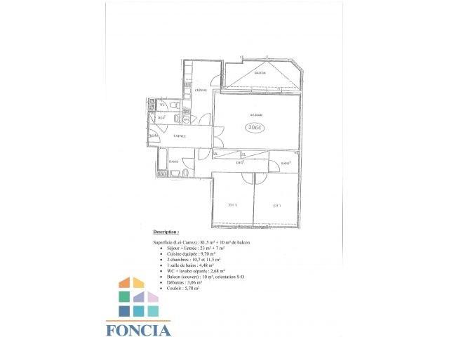 Rental apartment Suresnes 1808€ CC - Picture 10
