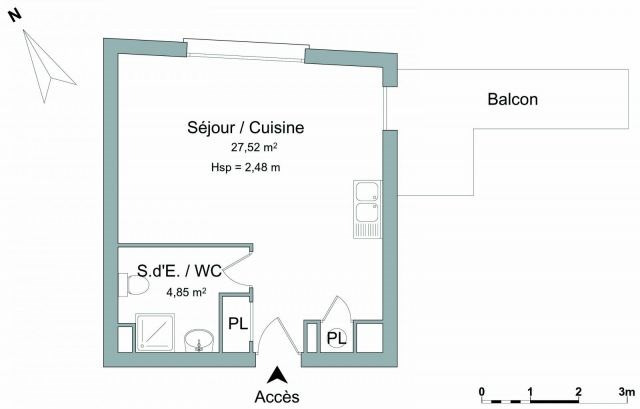 Verhuren  appartement Chambéry 500€ CC - Foto 5