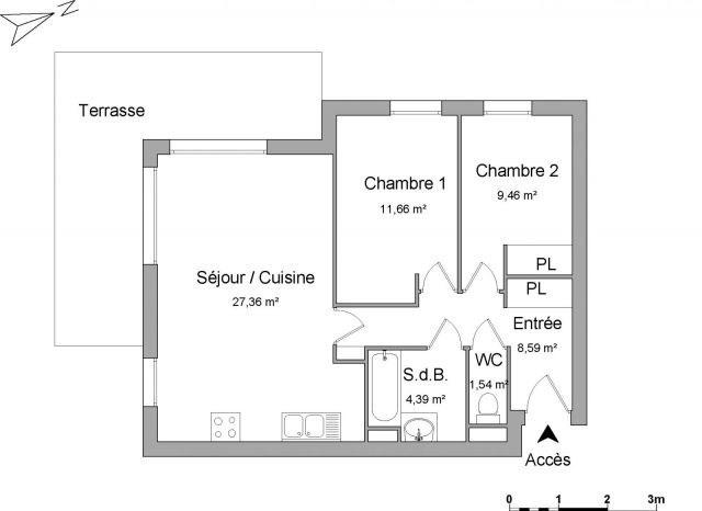 Verhuren  appartement Bassens 658€ CC - Foto 1