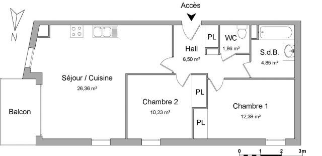 Location appartement Meyzieu 710€ CC - Photo 5