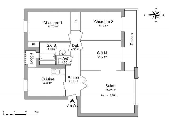 Affitto appartamento Montmélian 670€ CC - Fotografia 3