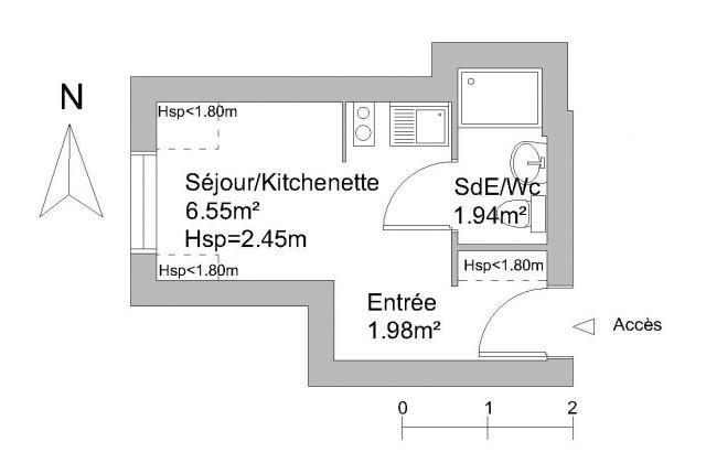 Affitto appartamento Chambéry 330€ CC - Fotografia 3