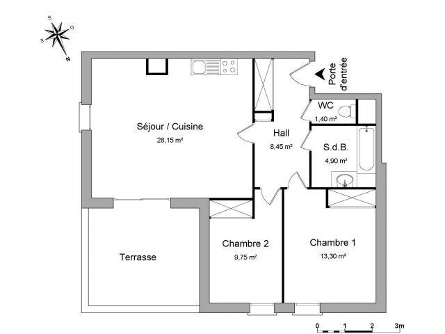 Verhuren  appartement Chambéry 755€ CC - Foto 3