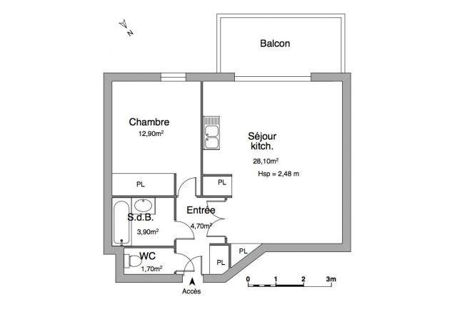 Verhuren  appartement Chambéry 686€ CC - Foto 7
