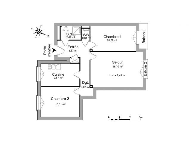 Location appartement Saint-étienne 473€ CC - Photo 4