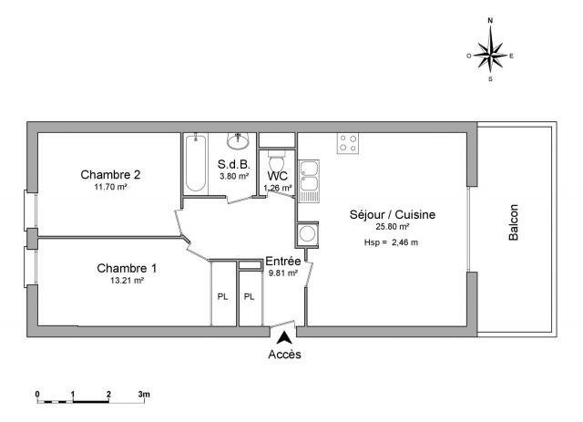 Verhuren  appartement Chambéry 782€ CC - Foto 3
