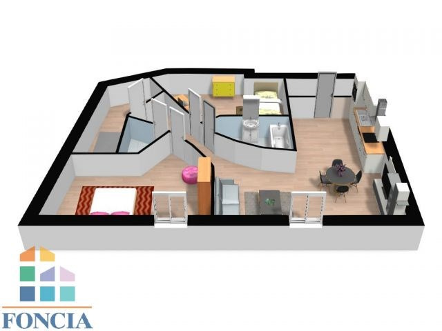Vente appartement Chalamont 96000€ - Photo 2