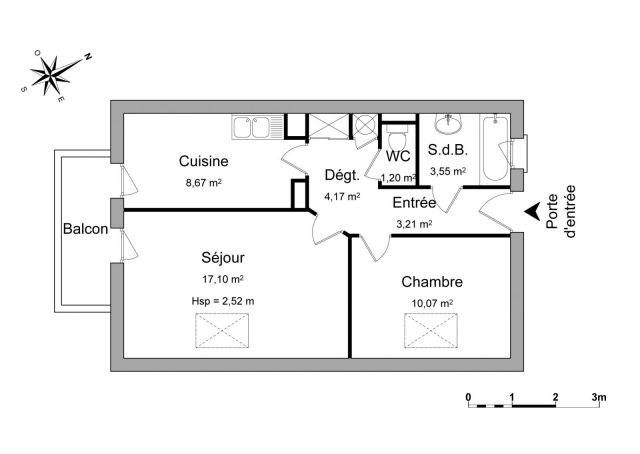 Location appartement Chambéry 555€ CC - Photo 2