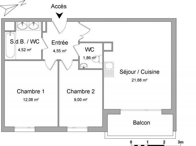Location appartement Meyzieu 748€ CC - Photo 2