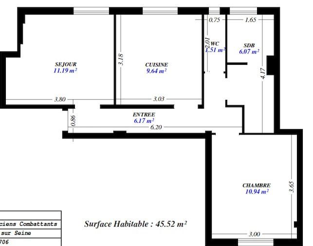 Location appartement Asnières-sur-seine 1047€ CC - Photo 5
