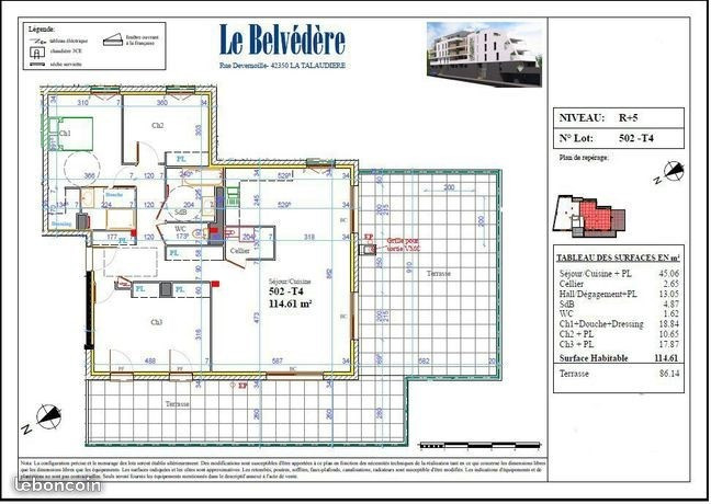 Vente appartement La talaudiere 138 000€ - Photo 3