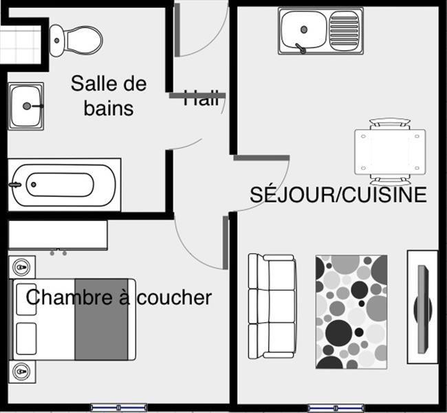 Verkoop  appartement Voiron 64000€ - Foto 1