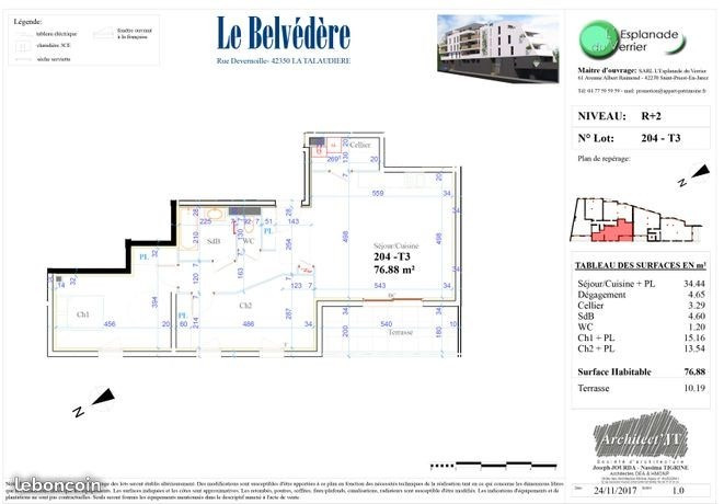 Vente appartement La talaudiere 138 000€ - Photo 4