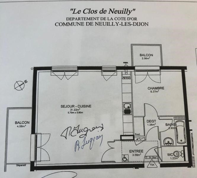Location appartement Neuilly les dijon 600€ CC - Photo 2