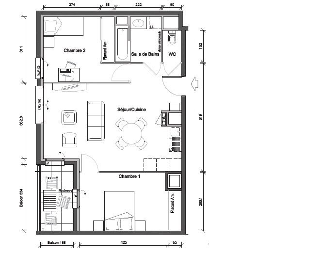 Sale apartment Oullins 220000€ - Picture 3