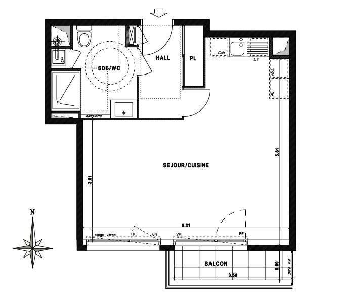 Sale apartment Vaulx en velin 156000€ - Picture 2